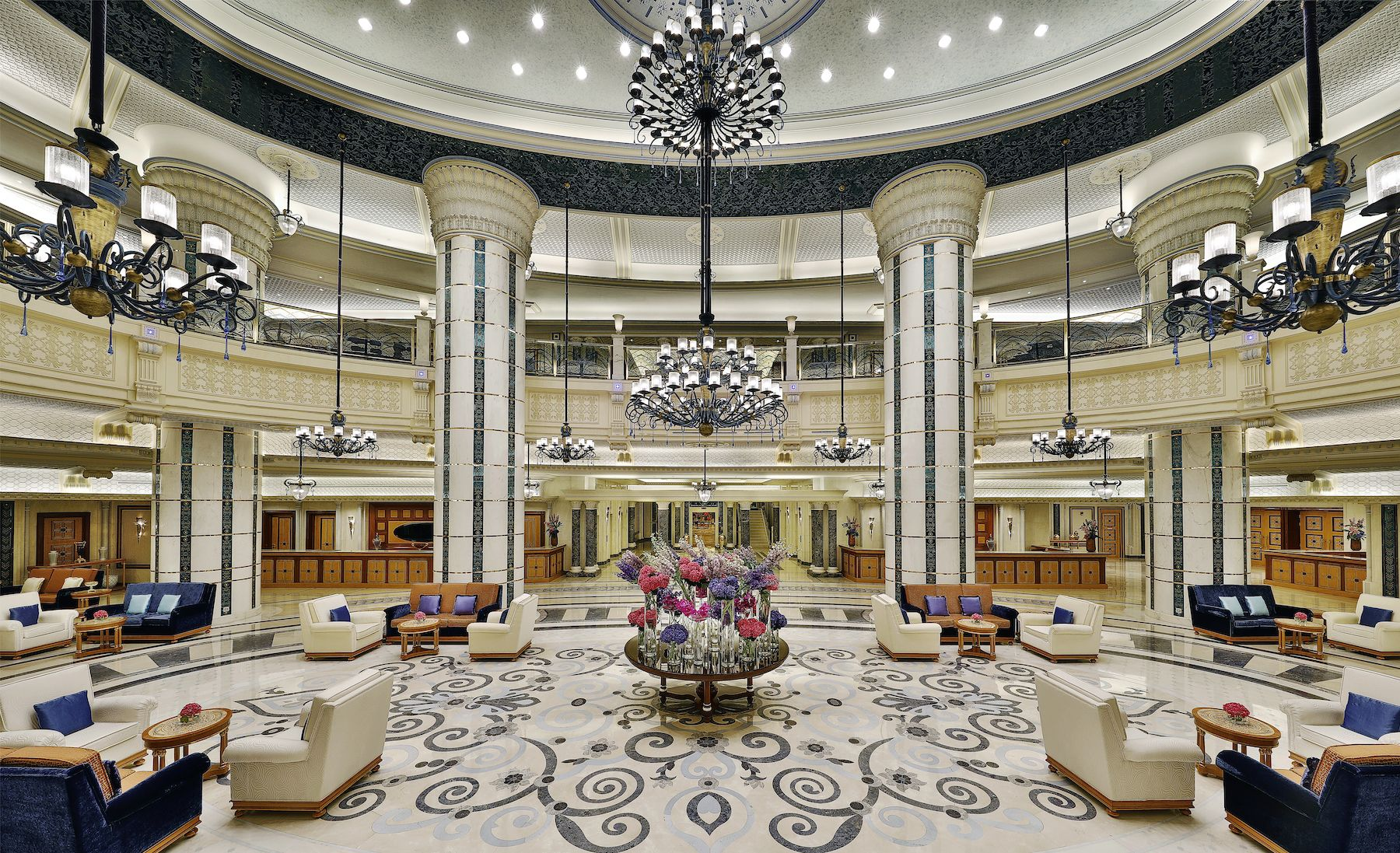 Arrive To A Royal Welcome In The Palace Inspired Lobby Of The Ritz Carlton Jeddah Hotel Jeddah Ritz Carlton