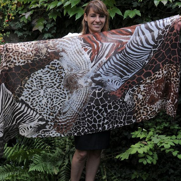 Wilde Muster - Schal - Shoppingdiaries #animal prints scarf #h&m