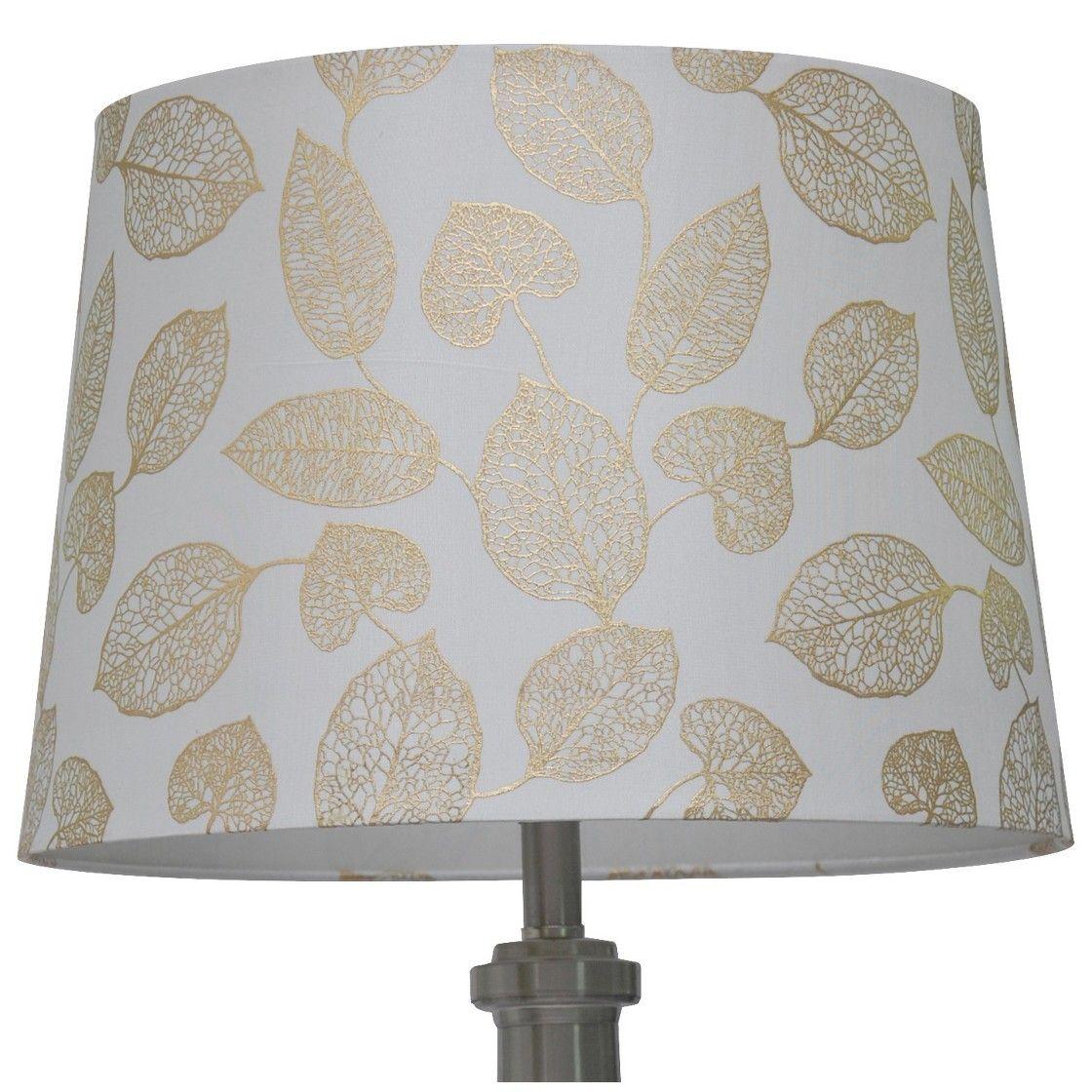 Threshold Metallic Foil Leaf Lamp Shade Gold
