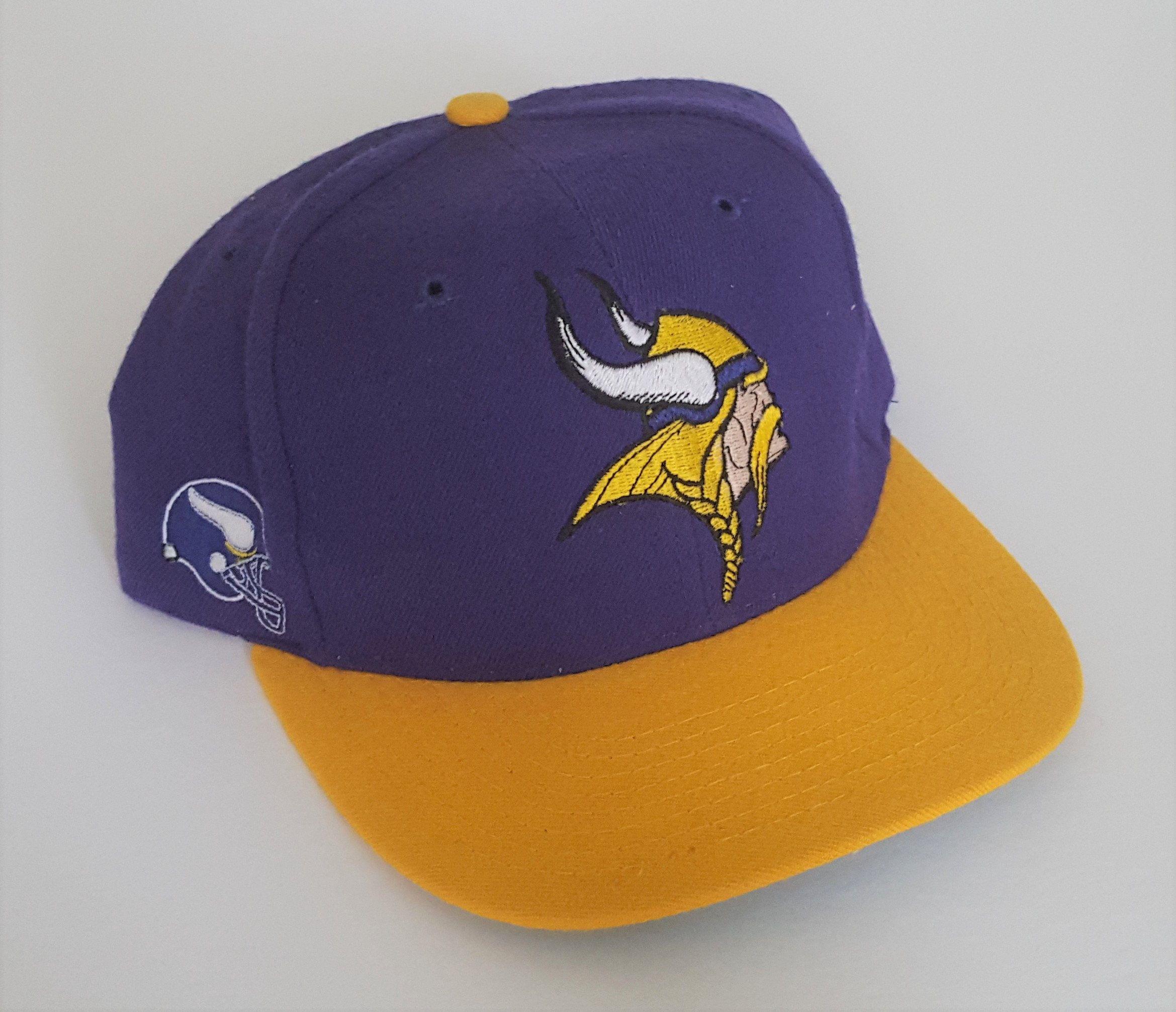Vintage Minnesota Vikings American Needle Snapback Hat Nfl Vtg Etsy Minnesota Vikings Vikings Viking Hat