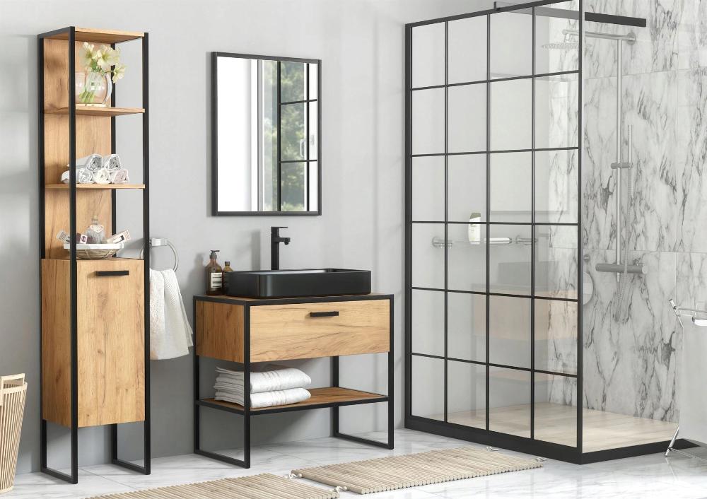 Comad Brooklin 827 Szafka Pod Umywalke 90 Cm Industrial Style Bathroom Bathroom Furniture Vanity Oak Bathroom