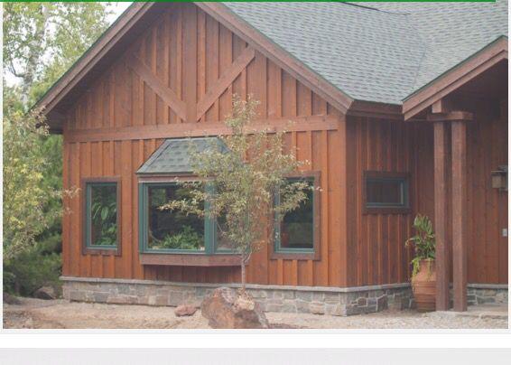 Love Combination Of Green N Cedar Colors Board And Batten Exterior Cedar Siding Board And Batten Siding
