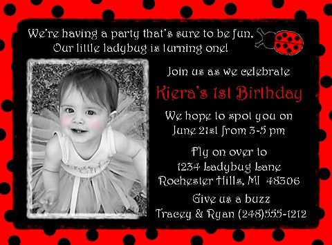 ladybug invitations 1st birthday | Recent Photos The Commons Getty Collection Galleries World Map App ...