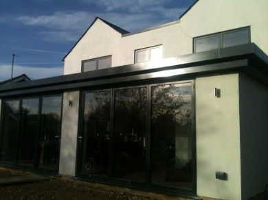 8 Contemporary Single Storey Flat Roof Extension Beige