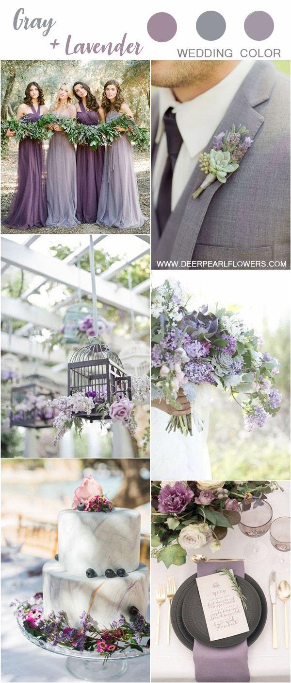 grey and lavender wedding color ideas #wedding #weddings #weddingideas #weddingcolors #deerpearlflowe