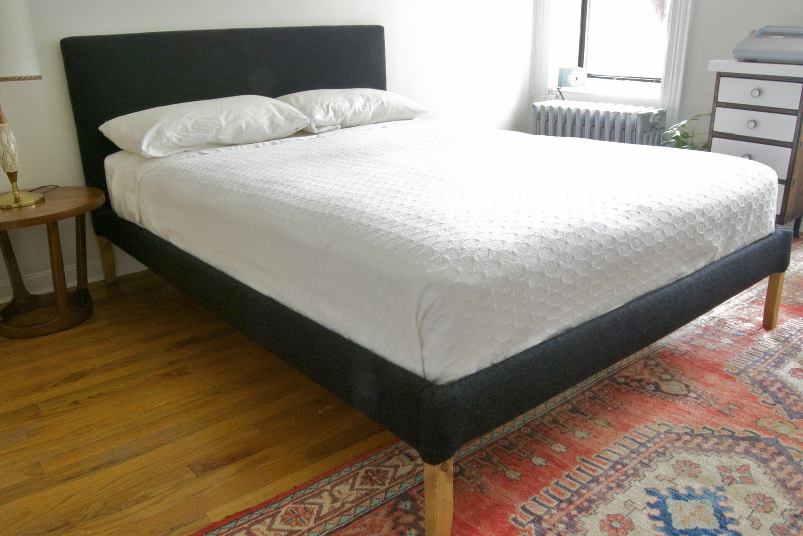 Another Fjellse bedframe hack: Stretching For Style: DIY Upholstered ...