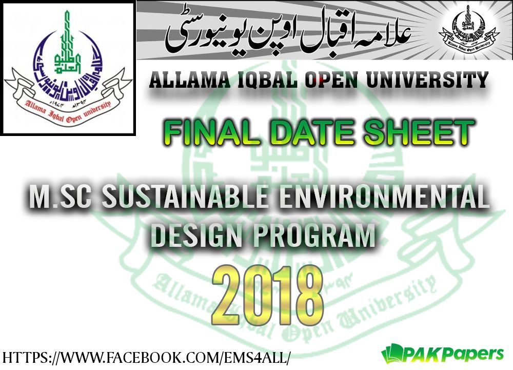 Remarkable Ms Environmental Design Allama Iqbal Open University Final Best Image Libraries Weasiibadanjobscom