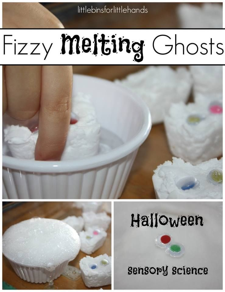 FIZZY MELTING GHOST SCIENCE  http://littlebinsforlittlehands.com/ghost-science/