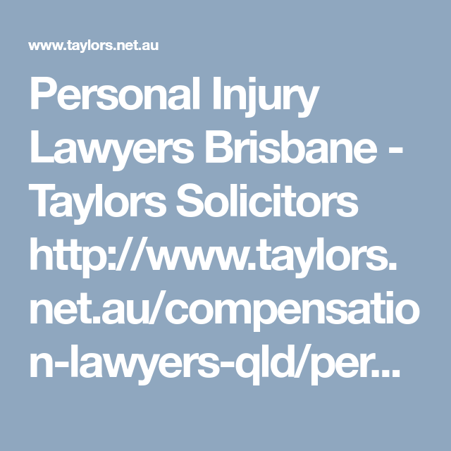 Injury Claims Solicitors Brisbane | Brisbane, Injury lawyer