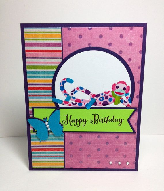 Handmade Birthday Greeting Card Personalised Card For A Girl Woman