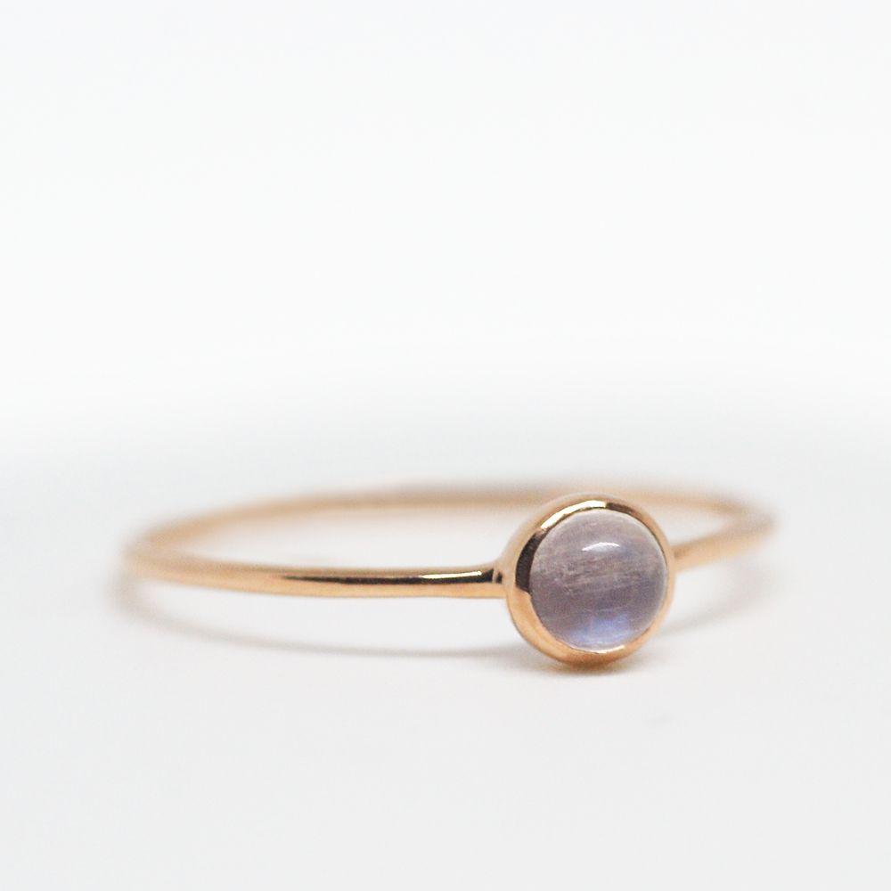 Moonstone ring moonstone ring gold rose gold ring moonstone