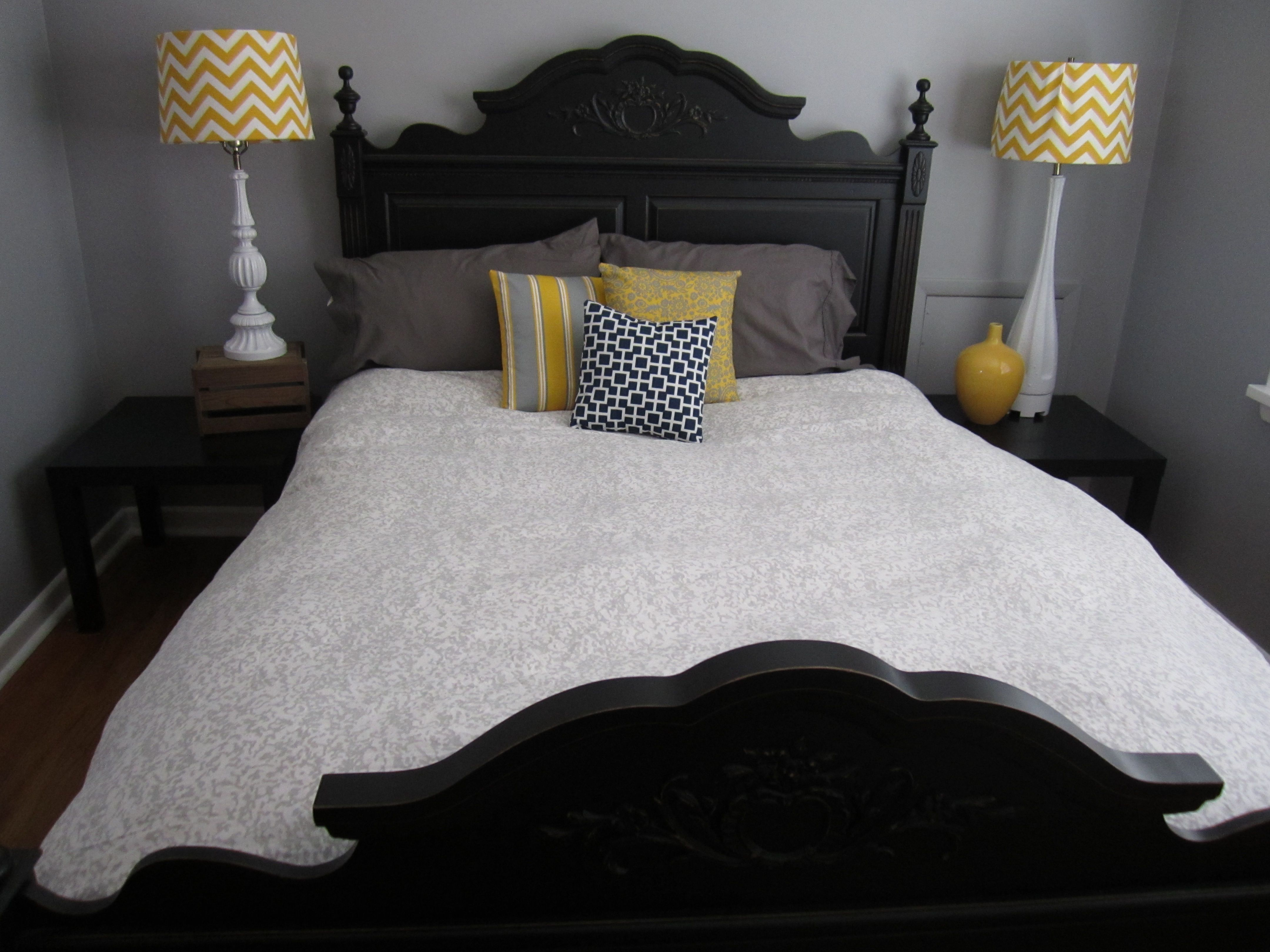Dark gray and yellow bedding - Dark Gray Bedroom Ideas Great Playuna Bedroom Decor