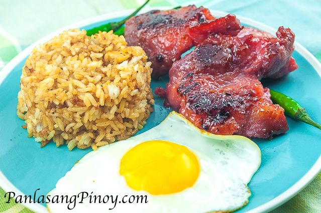 Tosilog is a popular Filipino breakfast meal. The name tosilog was derived  from the different