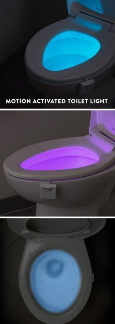 This motion-activated toilet light can guide your nightly bathroom trips without jolting you awake. And it gives kids an extra incentive during potty training. The little light softly illuminates the water in your choice of eight different color settings.