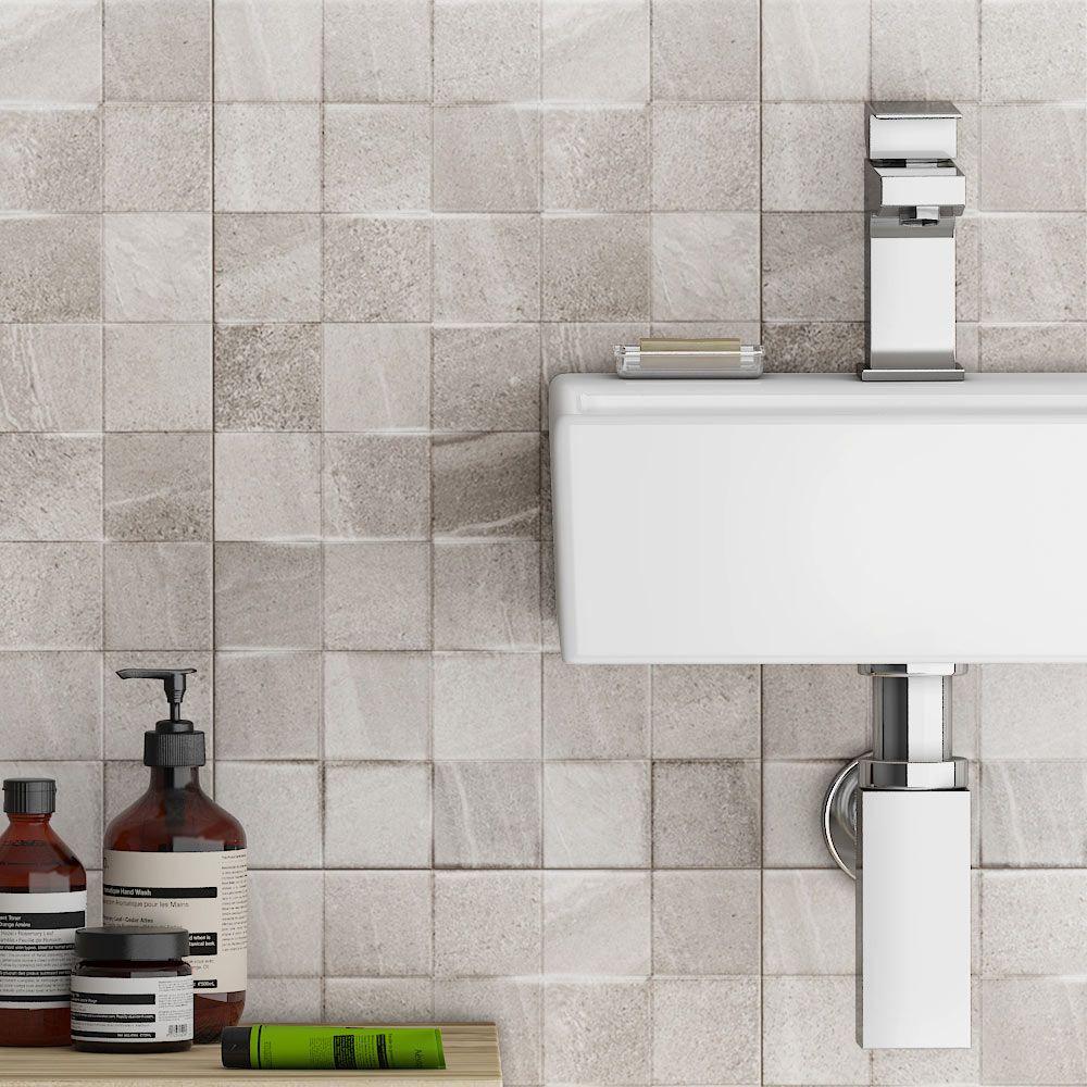 Oceania Stone Grey Mosaic Wall Tiles | Bathroom | Pinterest | Mosaic ...