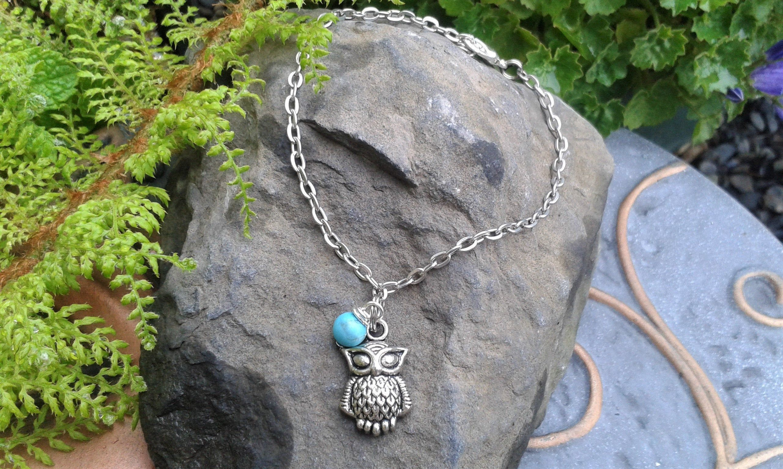 Owl Ankle Bracelet Anklet Charm