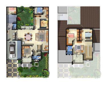 gambar denah rumah minimalis type 36 terbaru | house plans