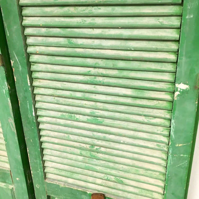 ReDuCeD!!! Vintage Cottage Farmhouse Pair of Shutters with