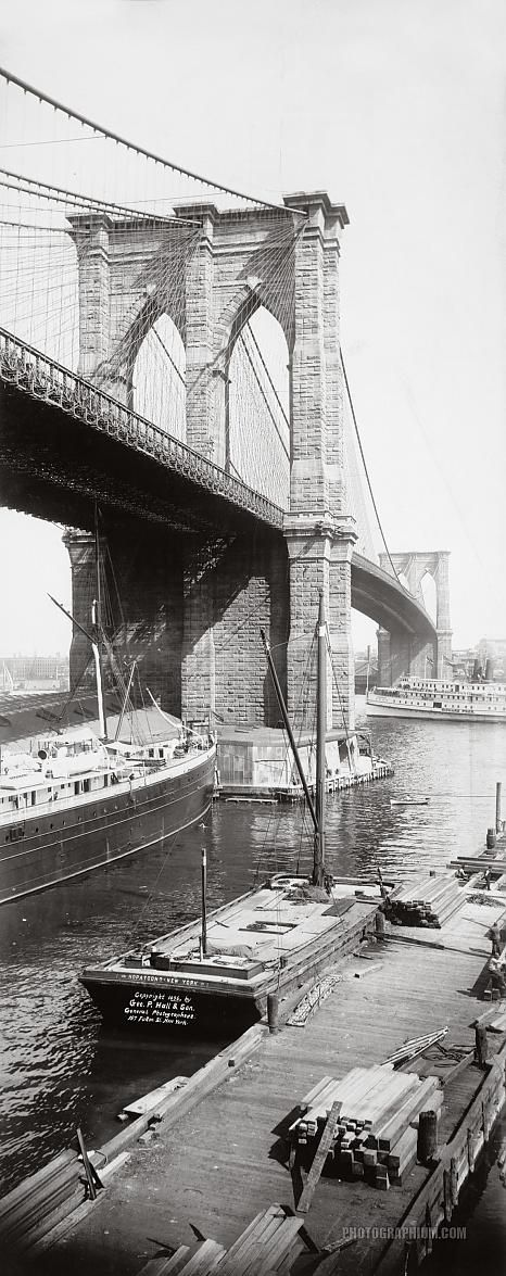 NYC. Brooklyn Bridge, 1896. Only 116 years ago!