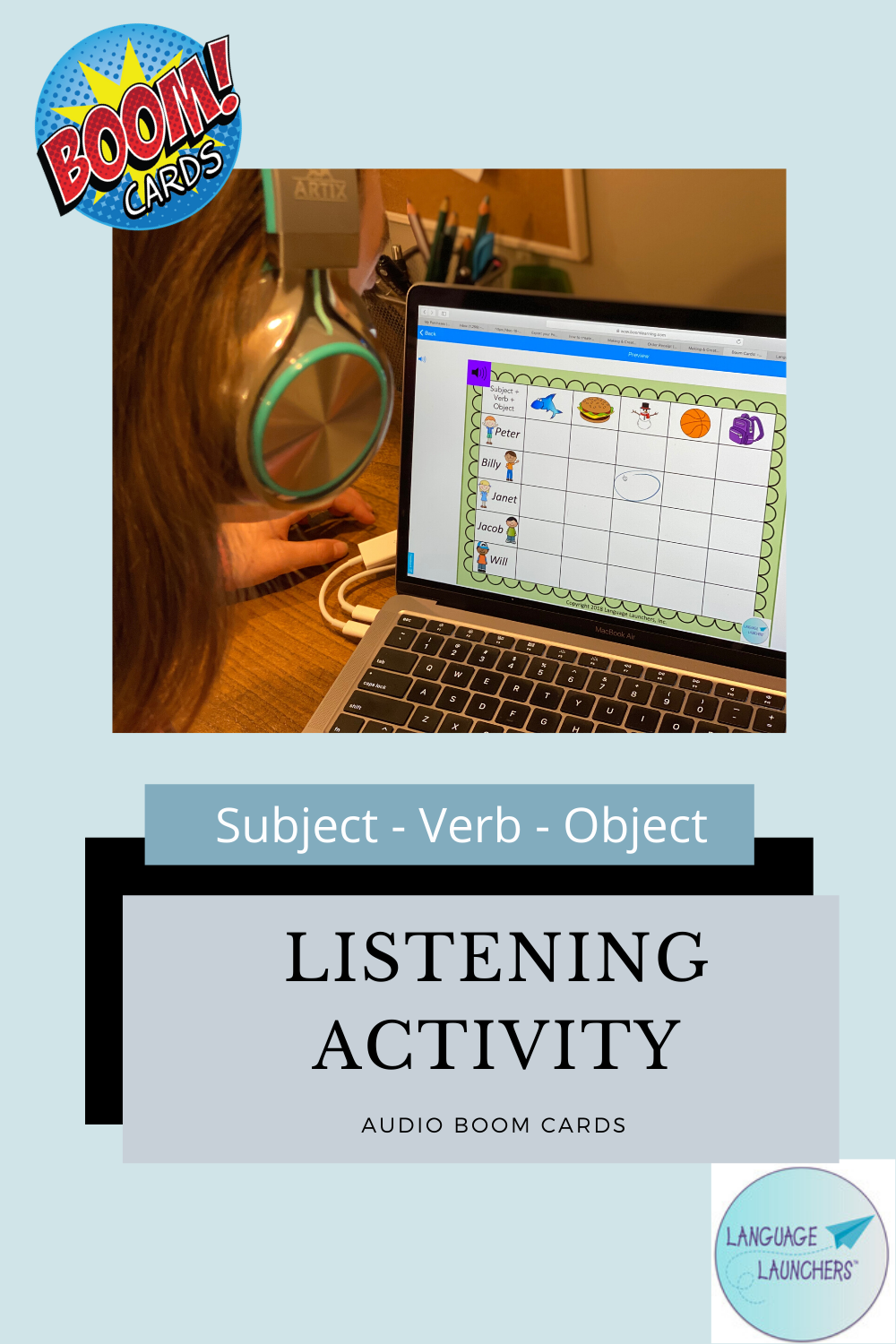 Listening Activity Boom Cards Active Listening Life Skills Special Education Speech And Language
