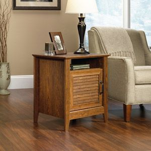 Walmart Sauder End Table Milled Cherry Budget Friendly Living