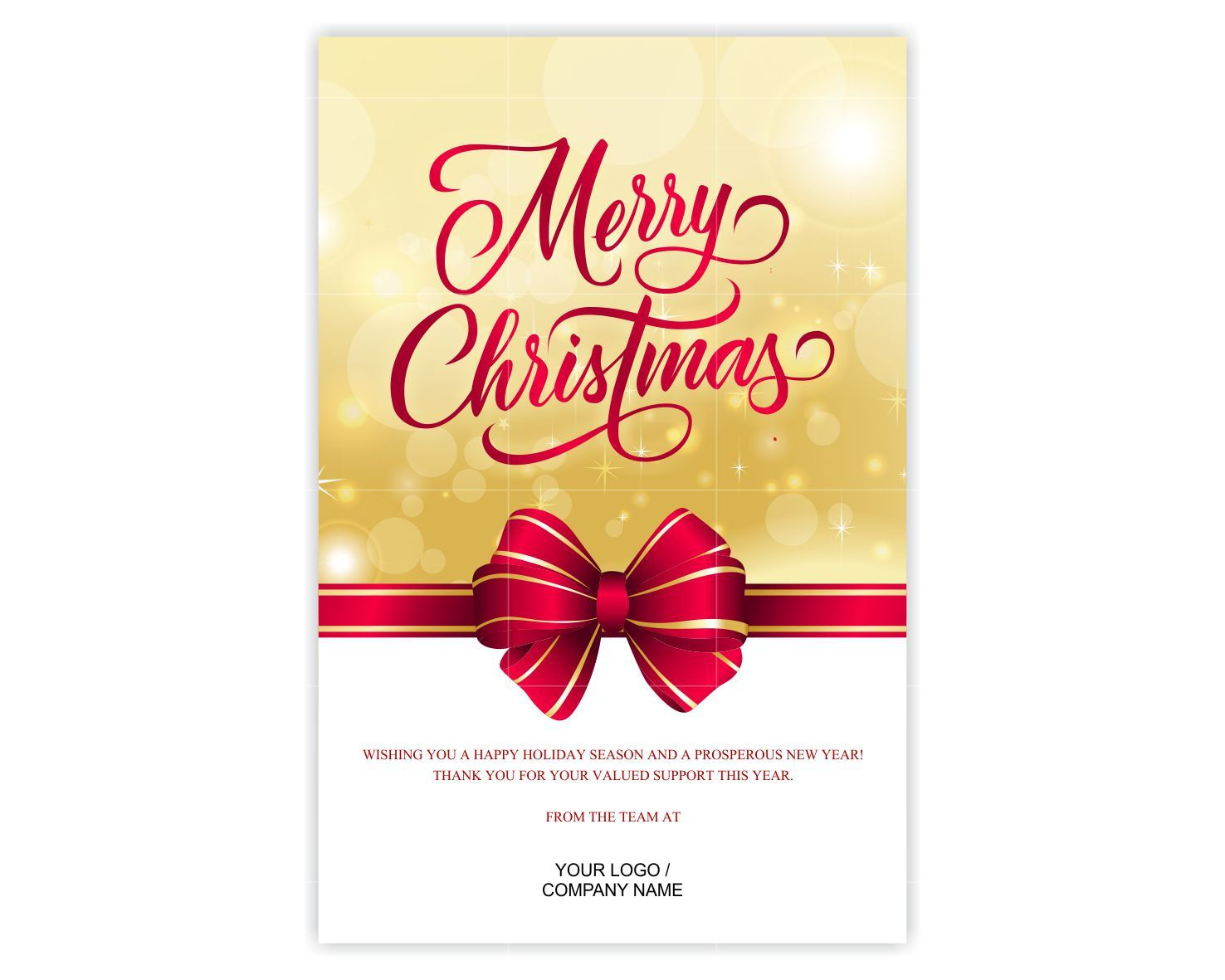 Custom Corporate Greeting Card / Business Greeting Card (CG001 ...