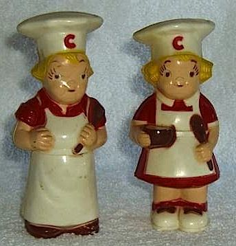 Vintage 1950s Campbell Soup Kids Salt And Pepper Shakers Stuffed