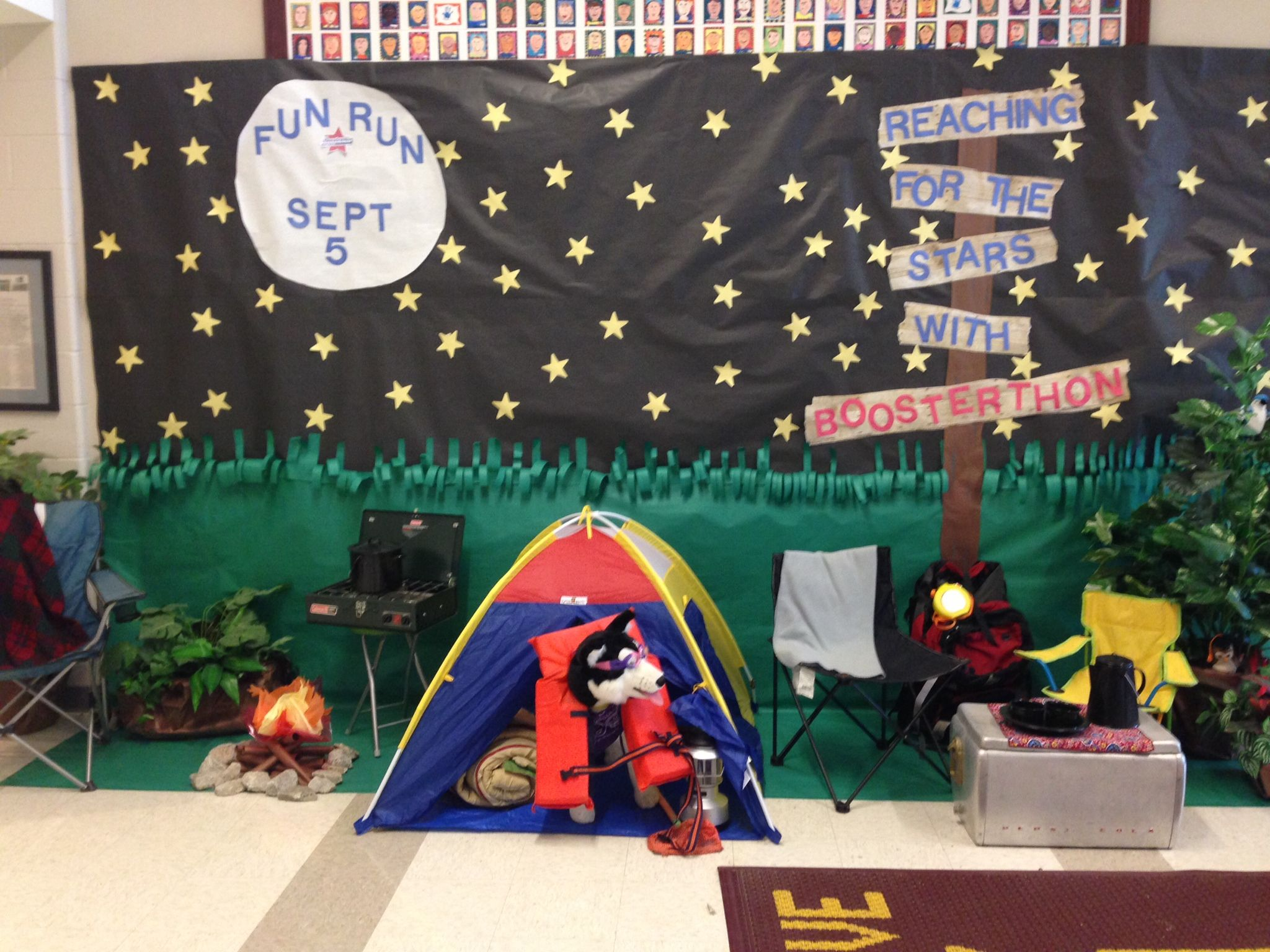Camping Classroom Decorations : Highcroft drive elementary with an awesome camp high five