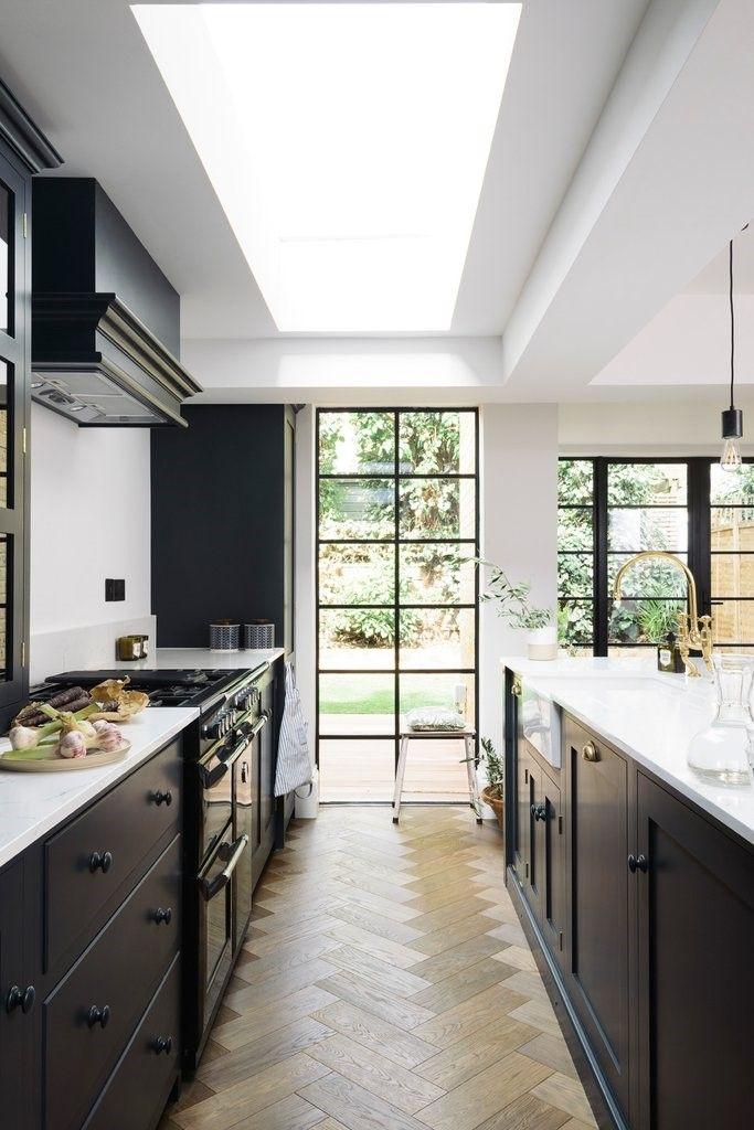 Skylight Above Kitchen Work Area Kitchen Remodel Small Oak Kitchen Remodel Kitchen Design