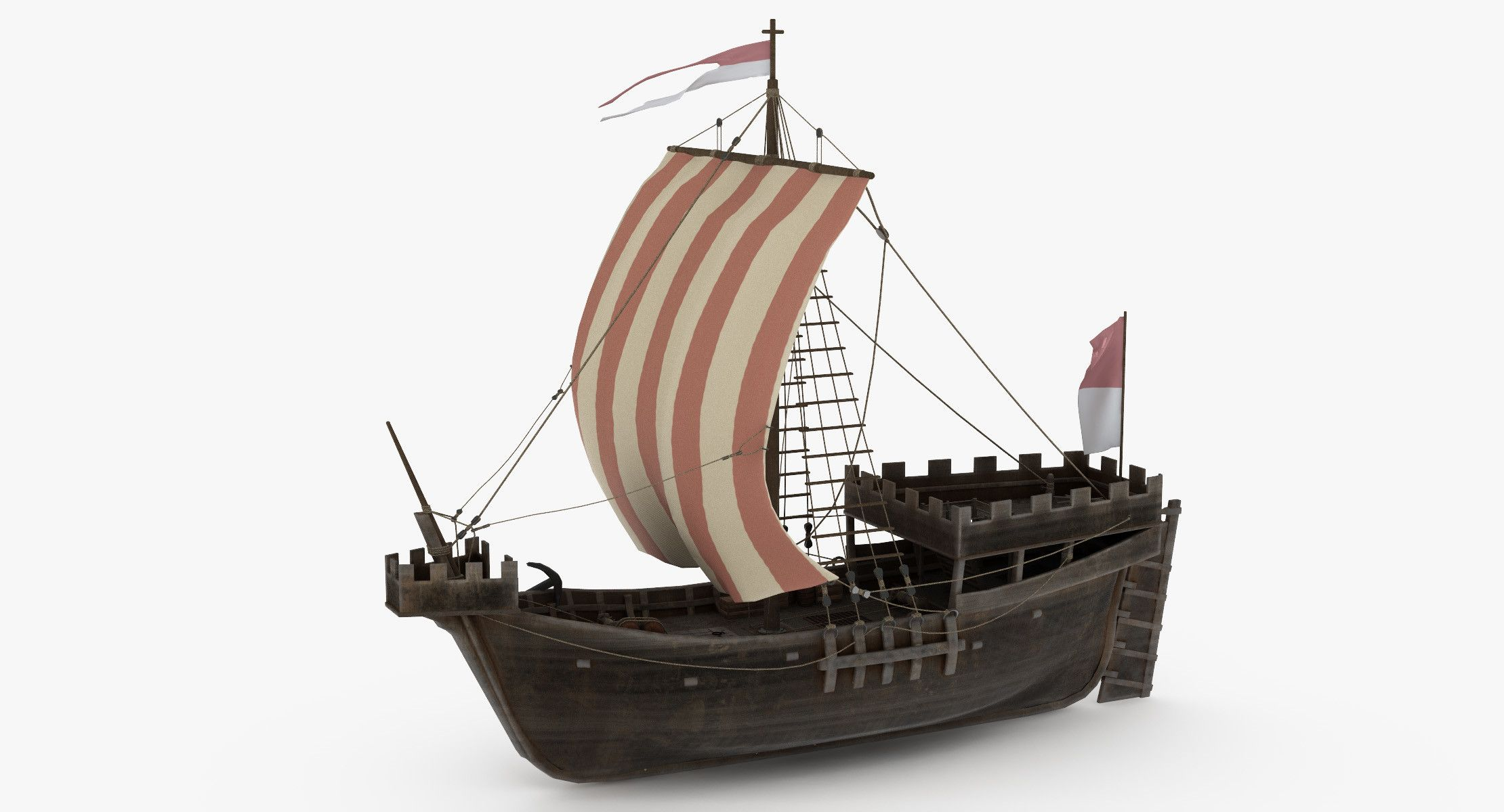 Medieval Ship Cog 3d Boat Pirate Diagram Piratediary