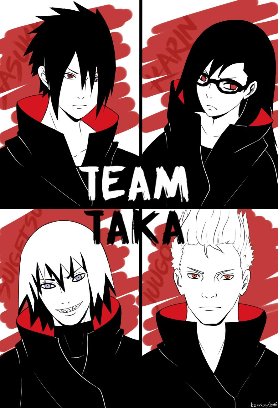 "kazhmiran ""Team TAKA …. I looove Sasuke's shinden hair"