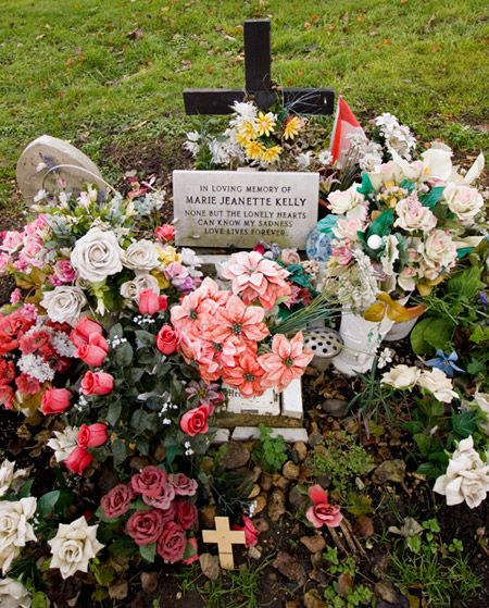 The grave of Jack the Ripper's final victim Mary Kelly.