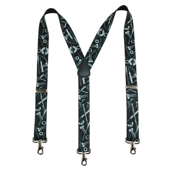 CTM® Men's Elastic Craftsman Novelty Suspenders with Swivel