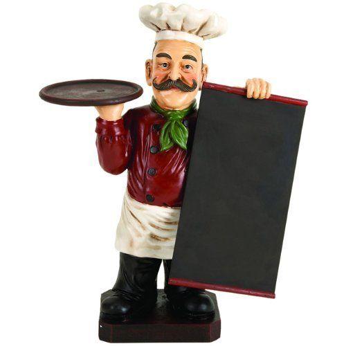 Deluxe Italian Chef With Chalk Board Blackboard Menu Sign And Tray Http Www Amazon Com Dp B006 Chef Kitchen Decor Kitchen Accessories Decor Restaurant Decor
