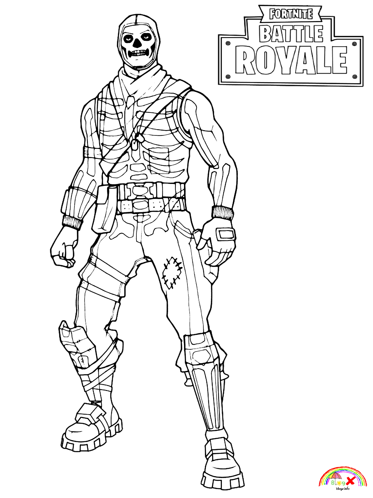 Skull Trooper Fortnite Battle Royale Coloring Pages Coloring Pages Allow Kids To Accompany Their Coloring Pages Coloring Pages For Girls Easy Coloring Pages