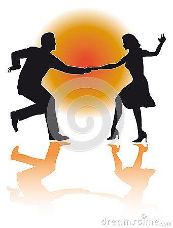Swing Dancing Couple Vector Couple Dancing Dancing Art Swing Dancing