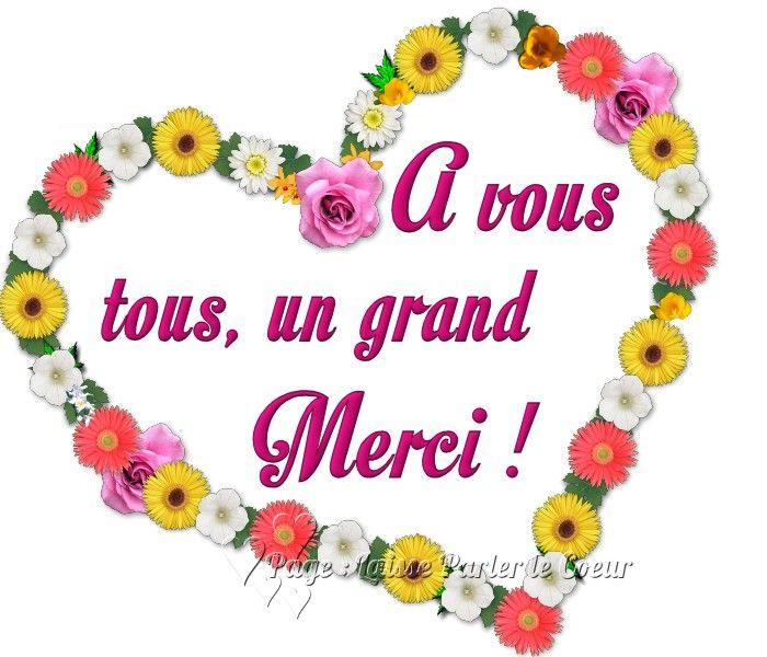Merci Image 6658 à Vous Tous Un Grand Merci Coeur