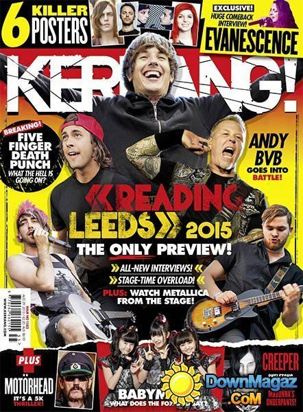 Kerrang Music Magazine Reading And Leeds Five Finger Punch Evanescence