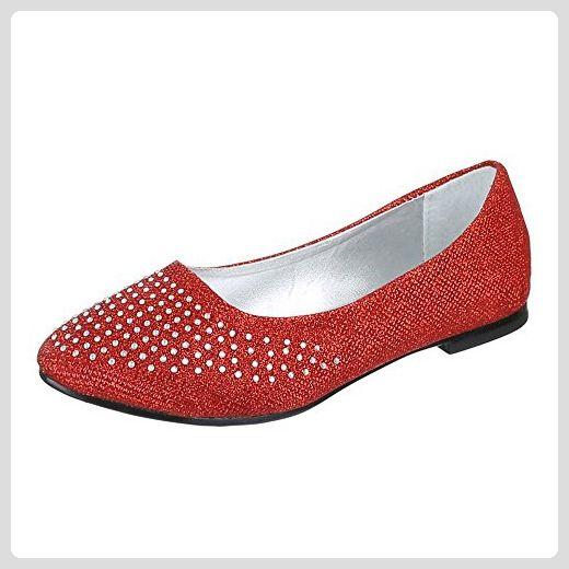 Damen Ballerinas, rot - rot - Größe: 38 Lazutom