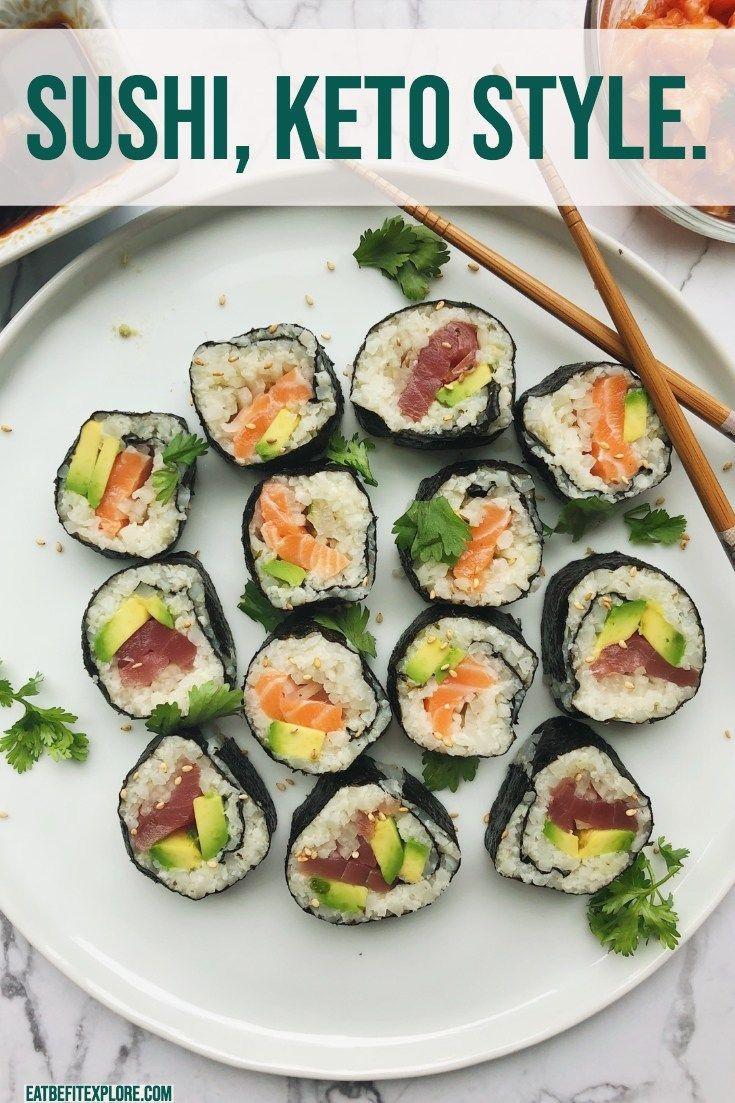 Keto Sushi Recipe Spicy Salmon Food Recipes Sushi