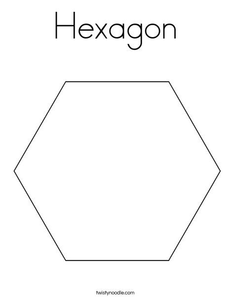 Hexagon Coloring Page Twisty Noodle Coloring Pages Cool