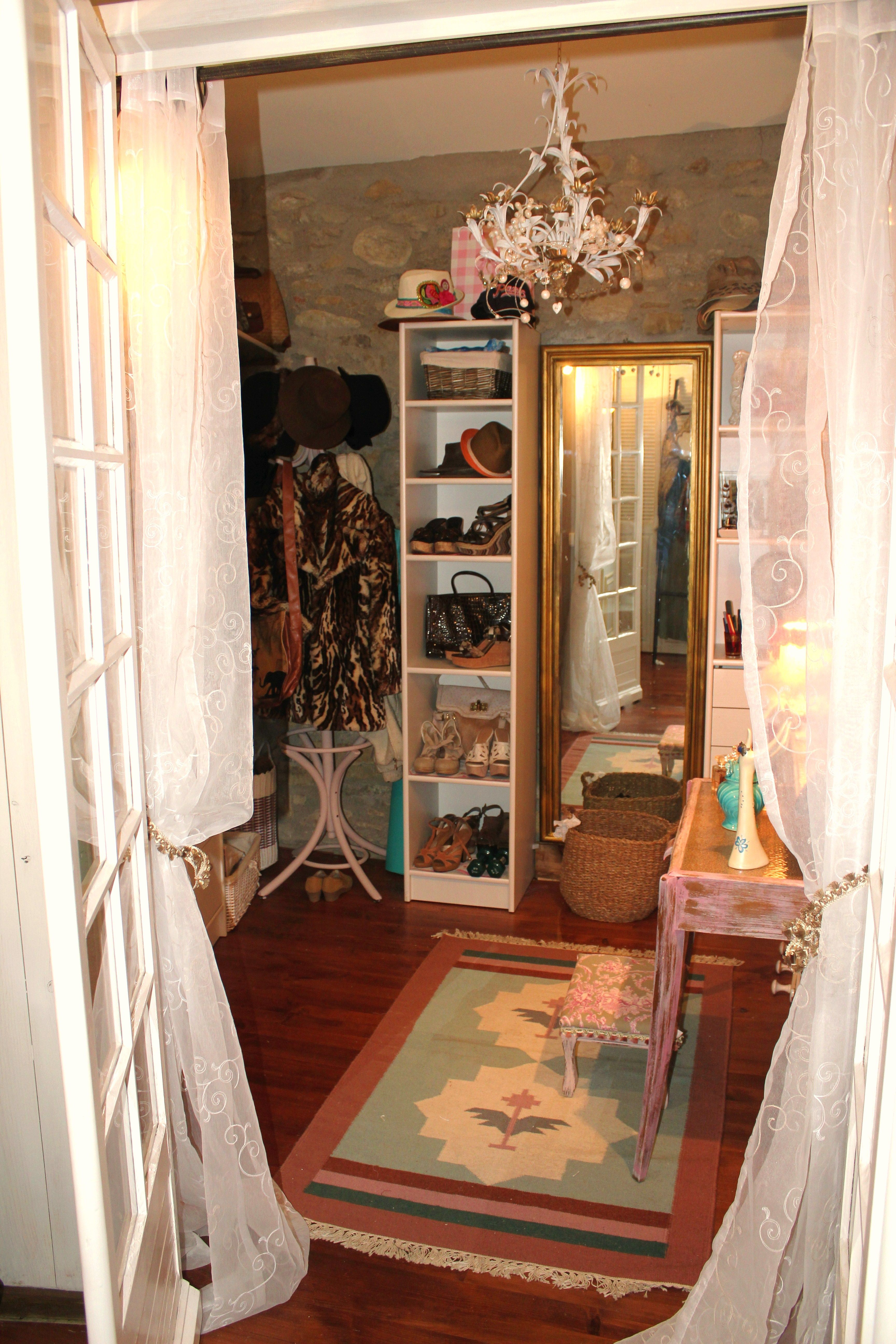 Bohemian Shabby Chic Walk In Closet French Country Shabby