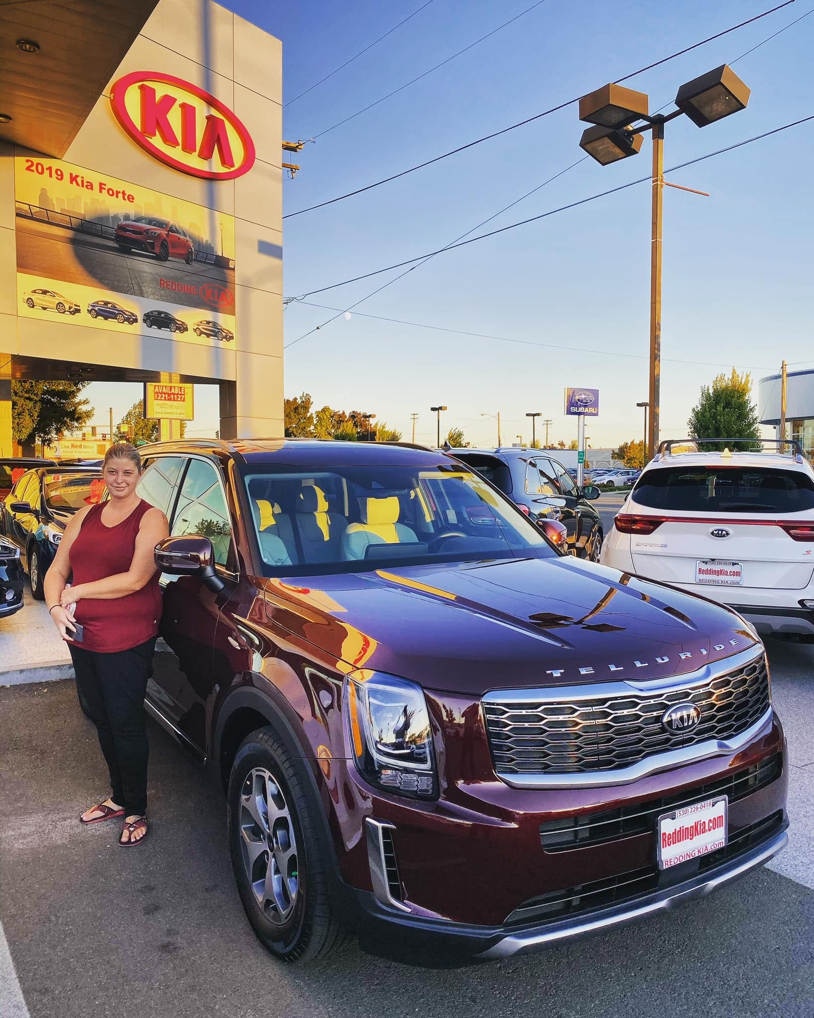 Congratulations To Tiffany Blair On The Purchase Of Her 2020 Kia Telluride Ex Awd Sangria She Called I Answered The Phone Kia Shasta County Telluride