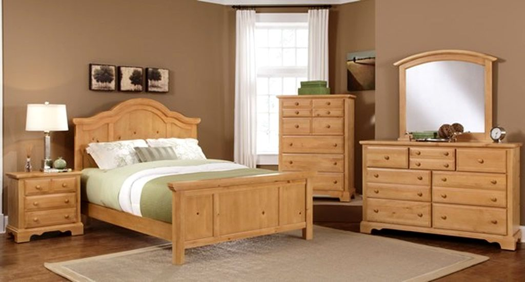 Solid Wood Bedroom Furniture Design Of Farmhouse
