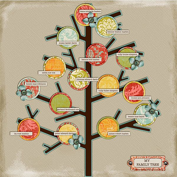 Iso Family Tree Template Digishoptalk Digital Scrapbooking