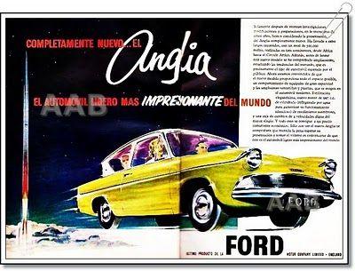 1959  Ford Anglia Ad #vintage #ads #advertising #publicidad #gráfica