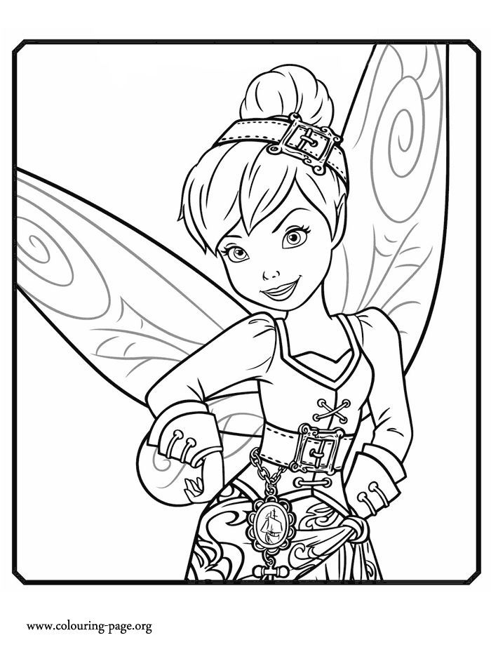The Pirate Fairy Tinker Bell A Water Fairy Coloring Page