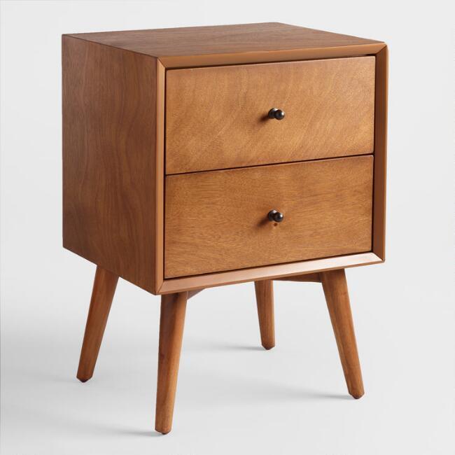 Acorn Wood Brewton Nightstand Affordable bedroom