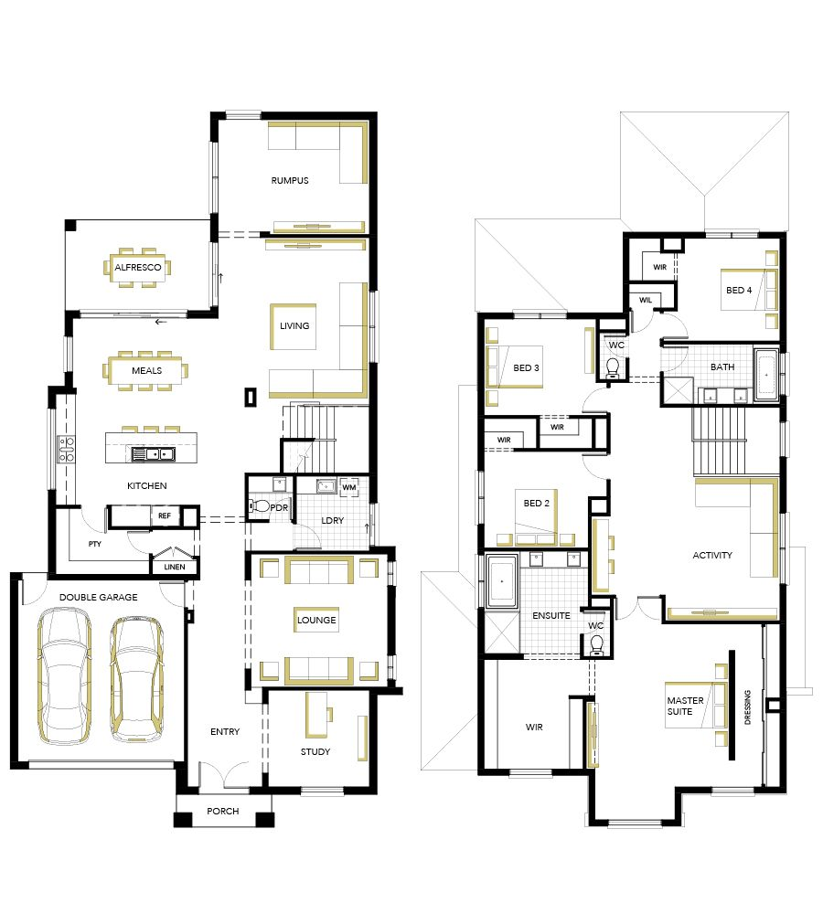 Neo Classical Designed House Floorplan Vaucluse by