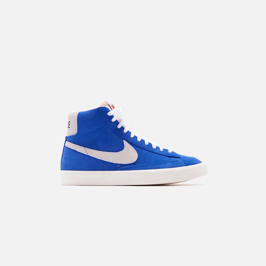 Nike Blazer Mid 77 Racer Blue White Sail Black Kith Nike Blazer Blue And White Blue Suede